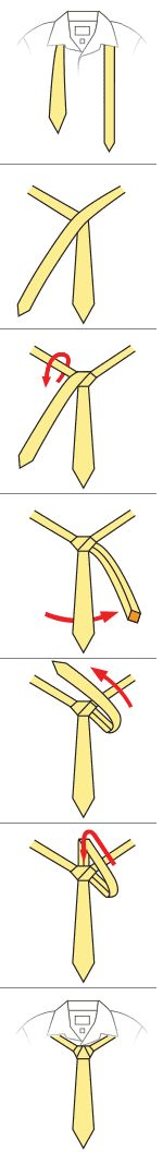 I am going to make it a mission to memorize and learn how to tie different knots for men's neckties.  This website has lots of variations of knots besides the traditional Windsor or Half Windsor.