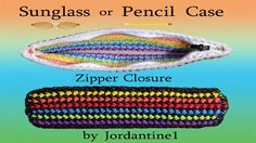 How To Add A Zipper Closure To A Rubber Band Crochet Project - Pencil Case - Rainbow Loom Loom Crochet, Crochet Hooks, Wonder Loom, Monster Tail, Crazy Loom, Crochet Purses, Crochet Bags, Rainbow Loom Creations, Rainbow Loom Charms