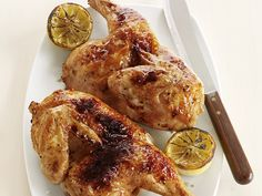 Broiled Lemon-Garlic Chicken Recipe : Food Network Kitchens : Food Network - FoodNetwork.com