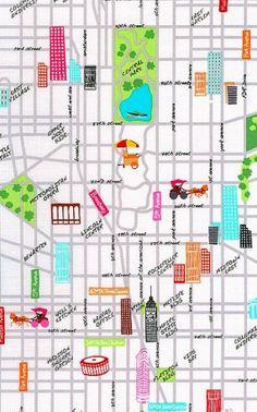 Benartex Fabrics - The Big Apple Collection by Kanvas - City Street in Multi