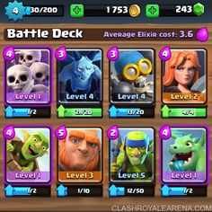 Royale 4 Arena Clash Deck http://ift.tt/1STR6PC
