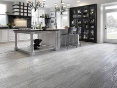dark grey hardwood floors kitchen - Google Search