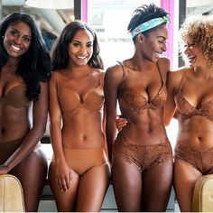 It's about time a new lingerie line for Nubian Skin. Beautiful nudes for darker-skinned women of all shades. Gimme it.