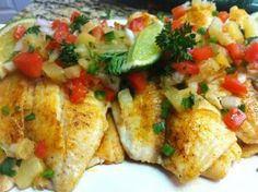 Spicy Tilapia and Pineapple Salsa