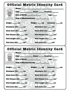 FUN WITH THE METRIC SYSTEM: METRIC IDENTITY CARD + STATISTICS ACTIVITIES - TeachersPayTeachers.com