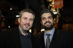 Ο συγγραφέας Δημήτρης Στεφανάκης με τον Εμπορικό Διευθυντή των Public, Σπήλιο Λαμπρόπουλο