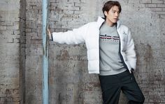 Kim Woo Bin, Nike Jacket, Chef Jackets, Photoshoot, Actors, Coat, Casual, Cancer Treatment, Paper Dolls