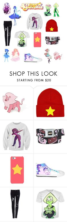 """""""Steven universe"""" by grace-562 ❤ liked on Polyvore featuring Lazuli, Hot Topic and Pull&Bear"""
