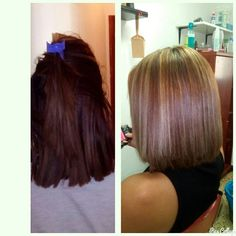 #ligth #mechas #hairstyle #hair #color