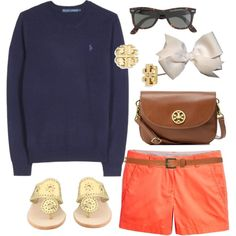 After Service OOTD by classically-preppy on Polyvore