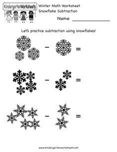 Free Kindergarten Winter Worksheets Worksheets For A Cold Day Winter Math Worksheets Winter Math Winter Kindergarten
