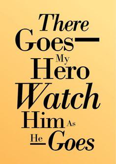 Song Lyrics Quotes | ... My Hero, Foo Fighters