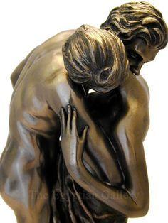 LA VALSE Camille Claudel Waltz Lovers Dance Statue Sculpture Rodin Nude Bronze                                                                                                                                                      Plus