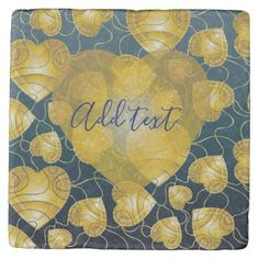 Golden Hearts Stone Coaster - elegant gifts gift ideas custom presents