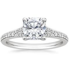 Platinum Duet Diamond Ring, top view.  This is the one.