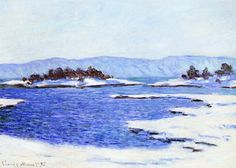 The Banks of the Fjord at Christiania, 1895