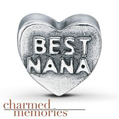 "Kay - Charmed Memories ""Best Nana"" Charm Sterling Silver"