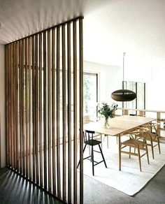 Vertical Wood Slat Wall Wooden Slats Divider Partition System Exterior Wo