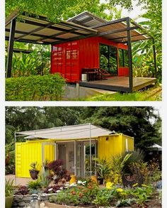 Shipping Container Homes by - Female Tutorial and Ideas Shipping Container Sheds, Prefab Container Homes, Sea Container Homes, Building A Container Home, Storage Container Homes, Container Buildings, Container Architecture, Container House Plans, Container Design