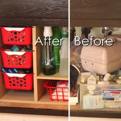 Undersink Cabinet Organizer with Pull Out Baskets