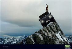 Only One Thing Climbs Higher than a Land Rover Defender.