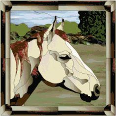 Dressage Stained Glass Horse Patterns | Stained Glass Horse ... by TheStitchersArt | Embroidery Pattern