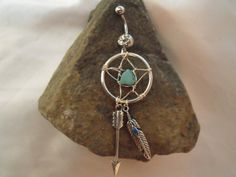 Belly Button Ring Dream Catcher Arrow and Feather by AGothShop, $18.00