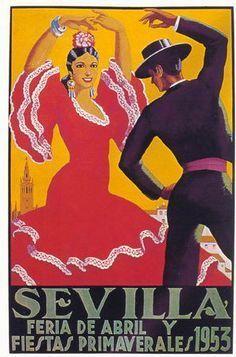 SEVILLA-Feria de Abril y fiestas primaverales 1953.