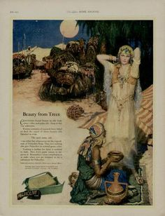 1925 Palmolive Soap Ad Cleopatra and Full Moon
