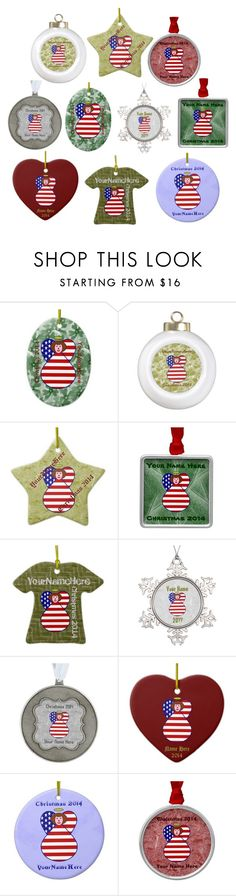 """""""Red Haired USA Angel Flag Ornaments"""" by auntieshoe ❤ liked on Polyvore featuring interior, interiors, interior design, home, home decor, interior decorating and christmasornaments"""