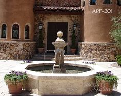 Some Lovely Examples of our Antique Limestone Pool Fountains by Ancient Surfaces page 2 Courtyard Pool, Stone Fountains, Pool Fountain, Backyard, Patio, Old Antiques, Water Features, Landscape, Outdoor Decor