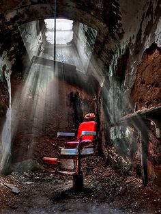 Barber Shop by Evelina Kremsdorf. Eastern State Penitentiary Philadelphia, PA