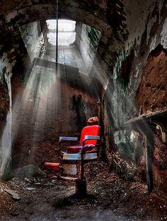 Barber Shop by Evelina Kremsdorf.   Eastern State Penitentiary  Philadelphia, PA