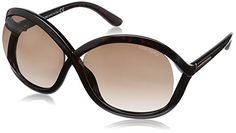 Tom Ford FT0297 Women's Sandra Sunglasses, Tortiose, 62 mmX15 mmX120 mm *** You can find more details by visiting the image link.