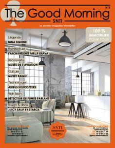 Réalisation d'un magazine pour le compte de l'agence immobilière SNTI.