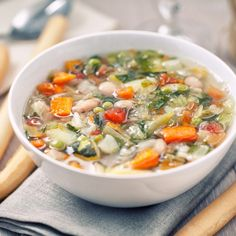 If you're in the mood, you don't want to eat anything else: the vegetable minestrone … – Diet healthy food Bloğ Shake Diet, Anti Inflammatory Diet, 1200 Calories, Natural Detox, Healthy Diet Recipes, Detox Drinks, Clean Eating, Food And Drink, Food Porn