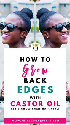 How To Grow Back Edges With Castor Oil The Blessed Queens is part of Edges hair - Learn how to grow back edges with castor oil with these helpful tips and tricks to regrow your natural hair with castor oil in differe Natural Hair Regimen, Natural Hair Care Tips, Natural Hair Growth, Natural Hair Styles, Natural Beauty, Black Hair Growth, Hair Growth Tips, Long Natural Curls, Afro Hair Care