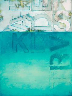 Aqua 7 by Kandy Lozano 2010 encaustic, oil on panel
