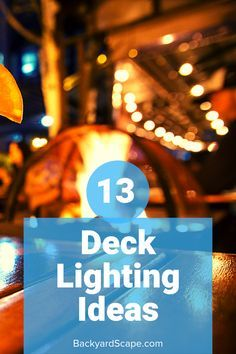 13 Amazing deck lighting ideas for covered or outdoor decks. Several ideas from rope solar lanterns and hanging. 13 Amazing deck lighting ideas for covered or outdoor decks. Several ideas from rope solar lanterns and hanging. Outdoor Deck Lighting, Outdoor Post Lights, Cool Lighting, Lighting Ideas, Outdoor Ideas, Landscape Plans, Landscape Design, Enclosed Decks, Decking Area
