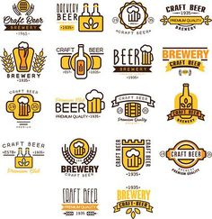 Label of beer badge, logo templates and design elements for beer house, bar, pub, brewing company, brewery, tavern, restaurant