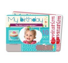 carte invitation anniversaire enfant birthday party pomme