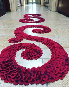 """""""PetaleDeRose"""" Aisle Runner Swirls in Burgundy Rose Petal. Silk Rose Petals, Silk Roses, Red Roses, Aisle Runner Wedding, Aisle Runners, S Letter Images, Alphabet Images, Rose Petal Aisle, S Love Images"""