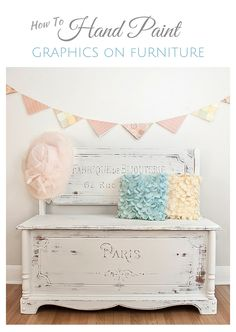 How to Hand Paint Graphics on Furniture | Salvaged Inspirations