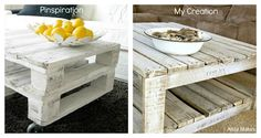 How to Whitewash a Pallet Coffee Table DIY | Alida Makes