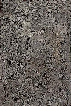 "redlipstickresurrected:"" Warlimpirrnga Tjapaltjarri (Australian-Aboriginal, b. c. 1958, east of Kiwirrkurra, Western Australia) - Wilkinkarra (Lake Mackay), 2006 Paintings: Acrylics on Belgian Linen"""