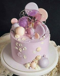 Beautiful Cake Designs, Cool Cake Designs, Beautiful Cakes, Amazing Cakes, Candy Birthday Cakes, Beautiful Birthday Cakes, Cupcakes, Cupcake Cakes, Cake Decorating Frosting