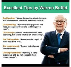 Warren Buffet on Finances