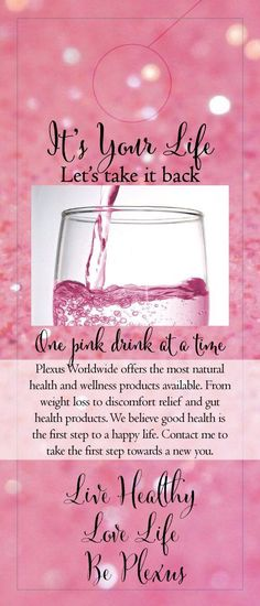 Contact me to get a healthier you or check out my website at shopmyplexus.com/tammifitzwater
