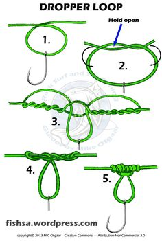 drop shot loop knot - Google Search