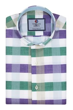 Sierra Lavender ₹3,300/-  A stunning business casual checks patterning with a soft purple, green and whitetouch to its design. #Business #Casual #Shirt #Shirts #Corporate #Fabrics #Luxury#Handcrafted #Custommade #Fashion #Style #Custom #Checks #Solids #Pastels #Checkered #Fun#Quirky #Men #Women #MenFashion #WomenFashion